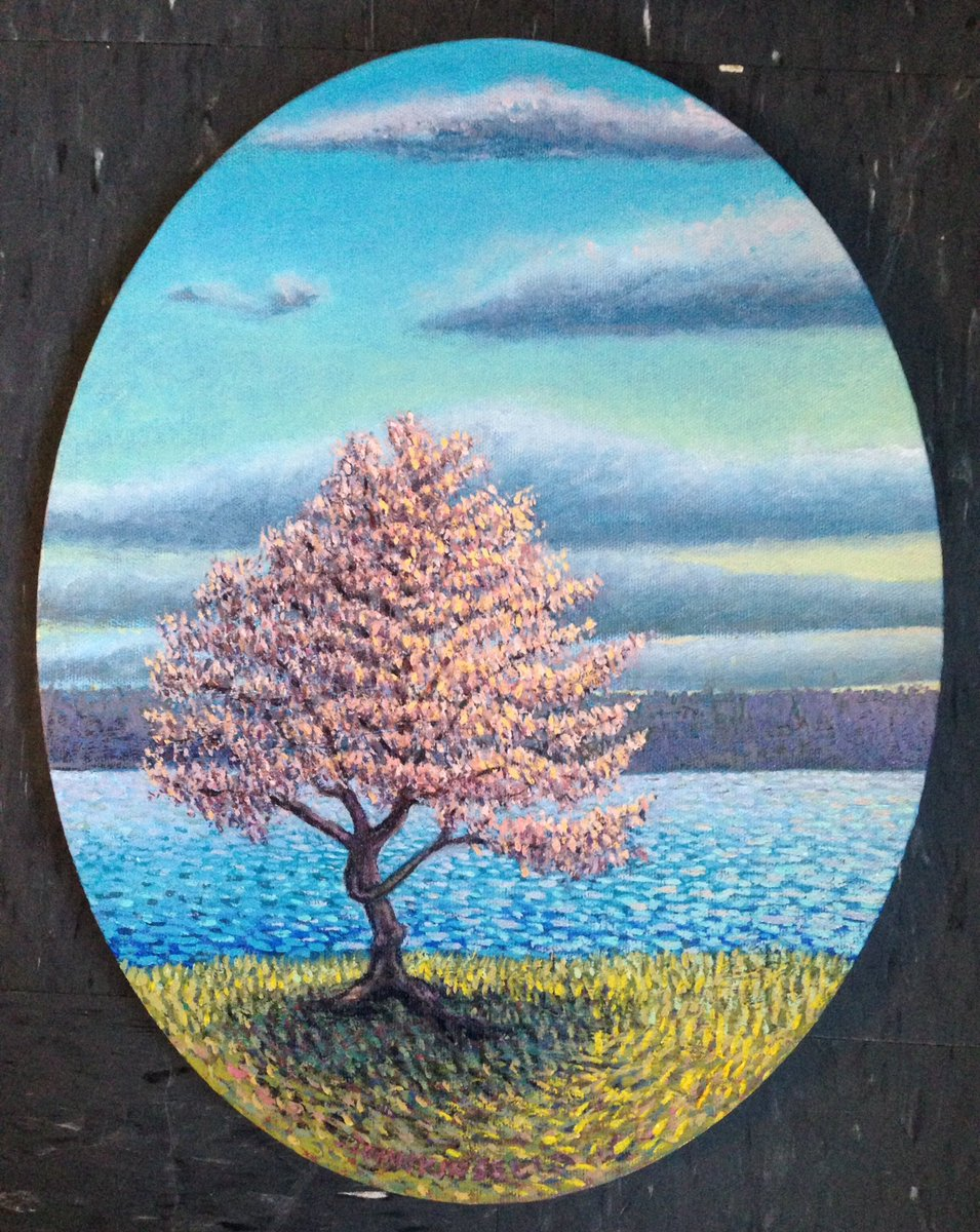 #rebirth  Crabapple Blossoms 2017-18 Oil on canvas 14 x 11 inches (each) #Art #artlovers #oilpaintings #painting #spring #blossoms #beautifulspring @Anishinabe_Life @CanadaReTweet @EclipseArt  @AwakenInspire @cynthia_hayes @FredR309<br>http://pic.twitter.com/5IsPeC6d6v