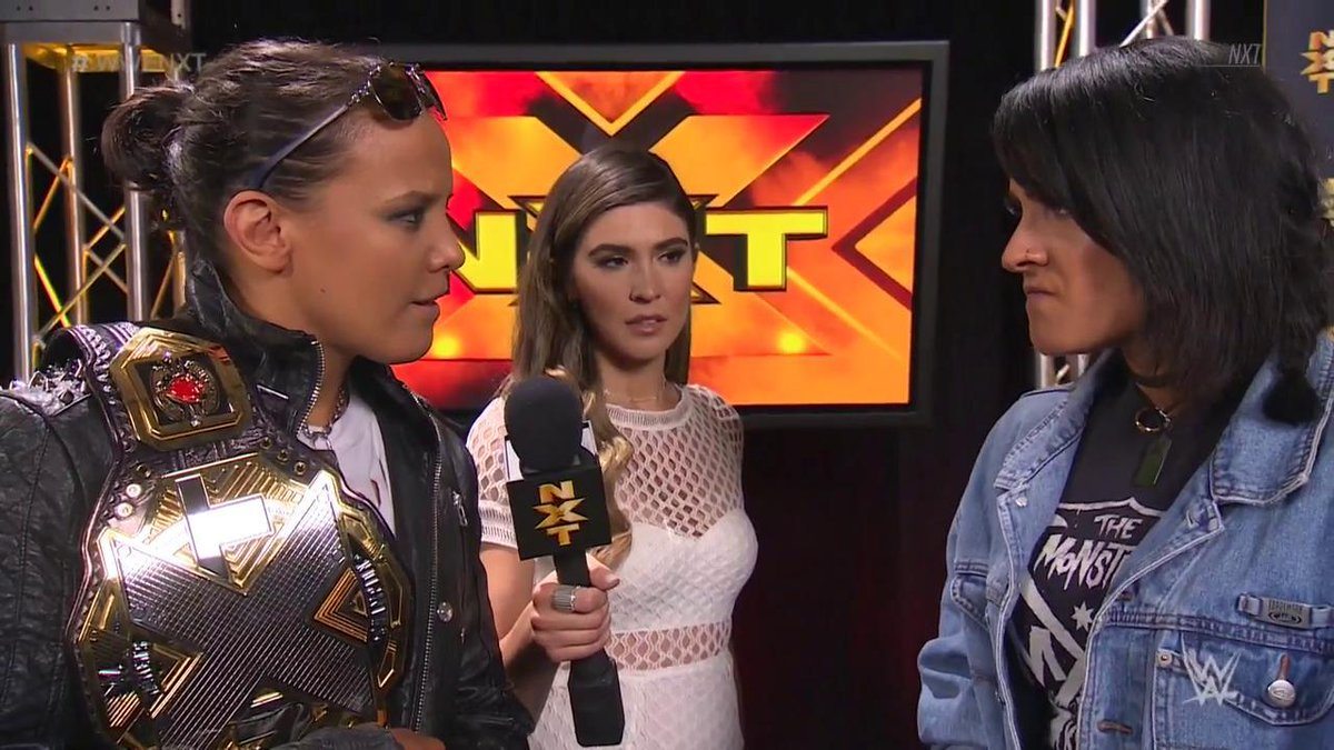 You know you dont stand a chance, right?  #WWENXT #WomensChampion @QoSBaszler has ALL the confidence ahead of her title defense next week against @DakotaKai_WWE!