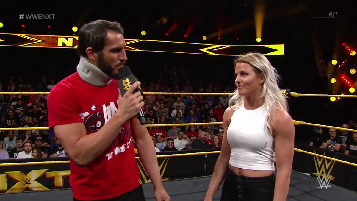The time has come. What does @JohnnyGargano have to say? #WWENXT