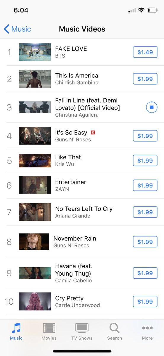 #FallInLine MV currently in # 3 @xtina @ddlovato<br>http://pic.twitter.com/3OXvTkTpOC