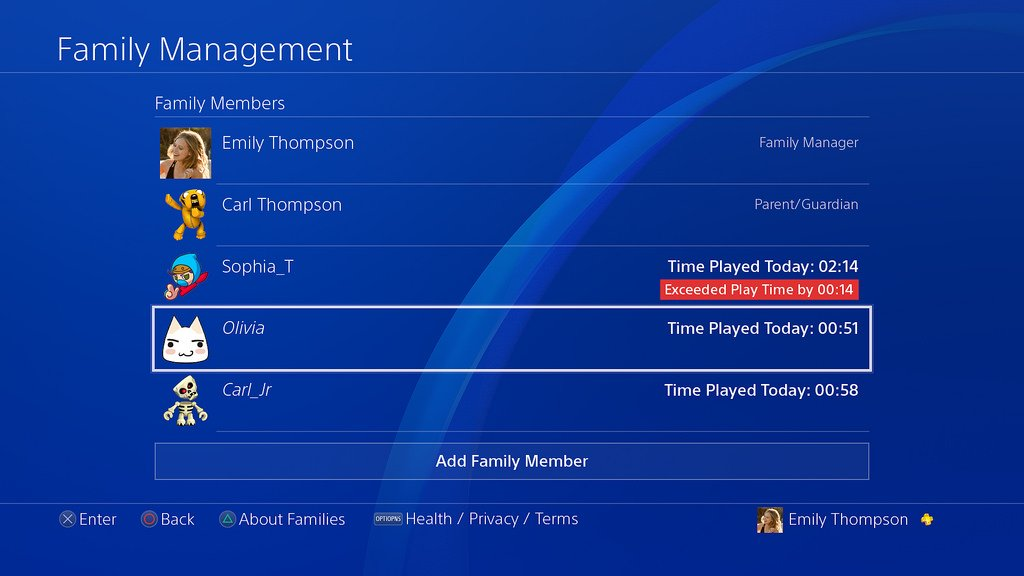 Want to set time limits on game time? Check out this article for info on setting Play Time for Child Accounts on your PS4: https://t.co/fX3Eer1Y1R