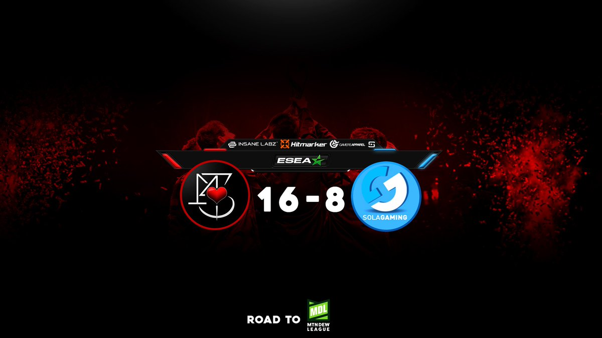 The academy team wins against sola gaming 16-8 and are now 1-0 in Main <br>http://pic.twitter.com/8Gp1ZgYX0J