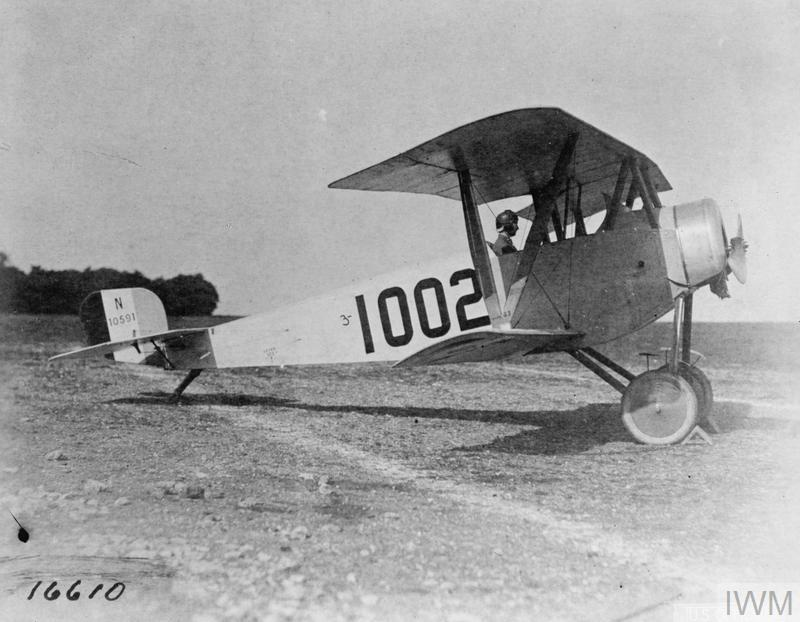 May 23, 1918 - French Nieuport fighter ready for takeoff at US aviation training center at Issoudun, in central France #100yearsago