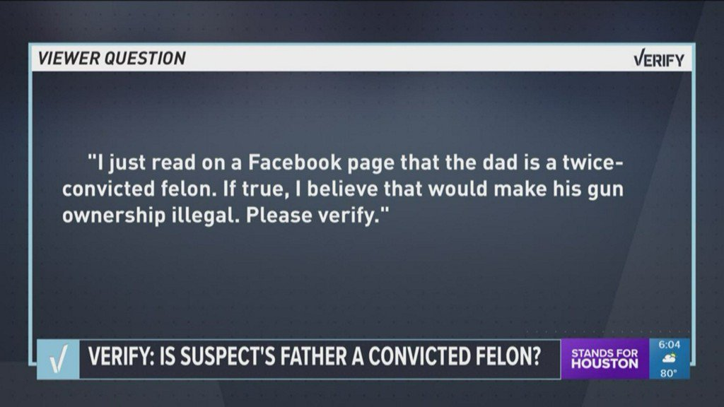 VERIFY: Looking into background of suspected Sante Fe shooter's father, who owned guns used in attack https://t.co/lBIEjpX9rN