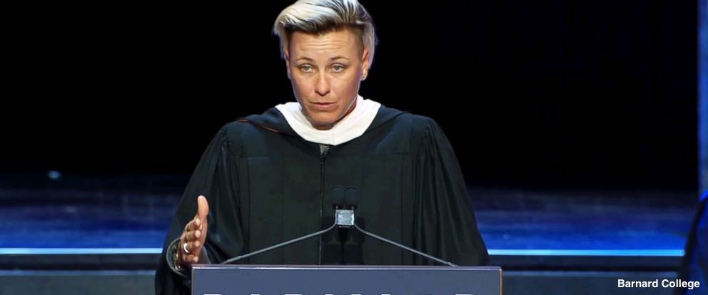 """Soccer champion Abby Wambach delivers fiery, inspirational speech to female college graduates, leaving some with """"goosebumps"""" and """"tears."""" https://t.co/IHmwDKZWs0"""