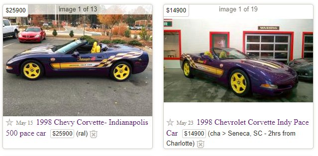 Bozi Tatarevic On Twitter Not One But Two Purple C5 Pace Cars