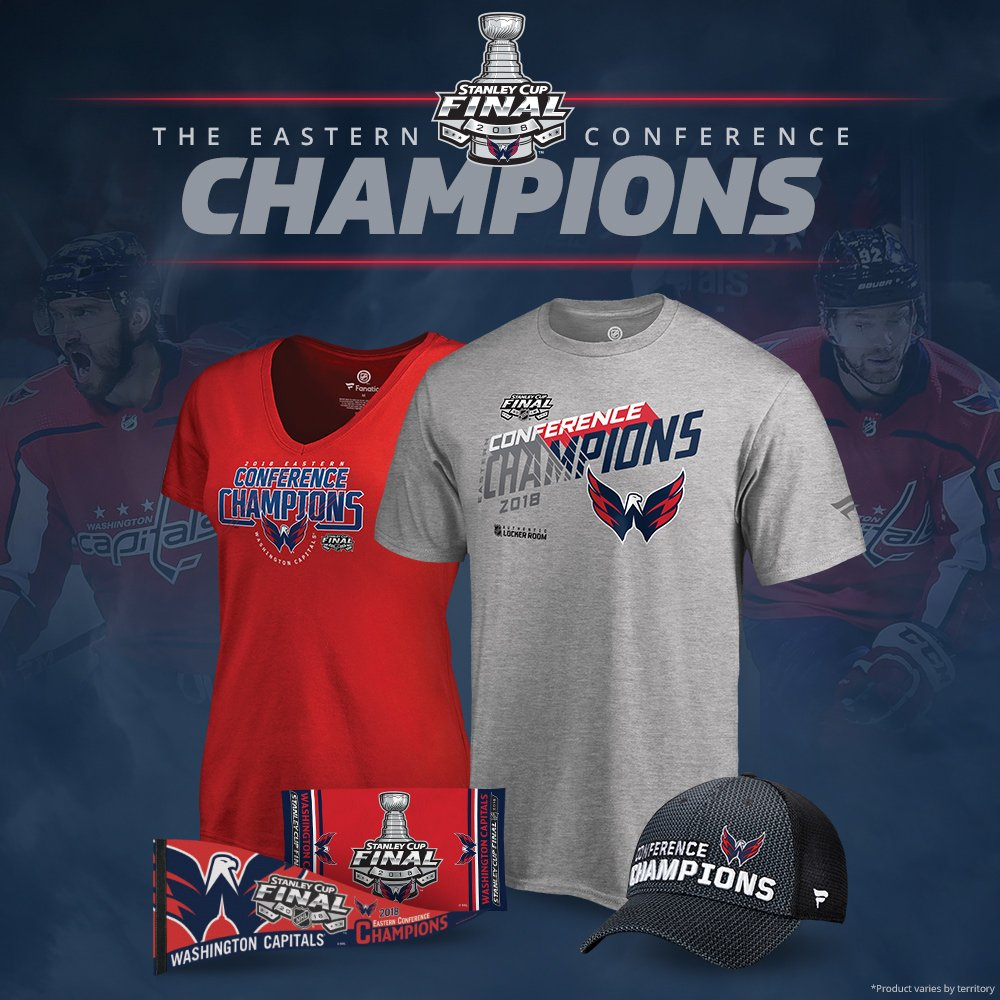 The Washington Capitals are Eastern Conference Champions! Shop Champs gear  now  https   atnhl.com 2KQdf2e pic.twitter.com hgfBA4uZ7H b492baa431e