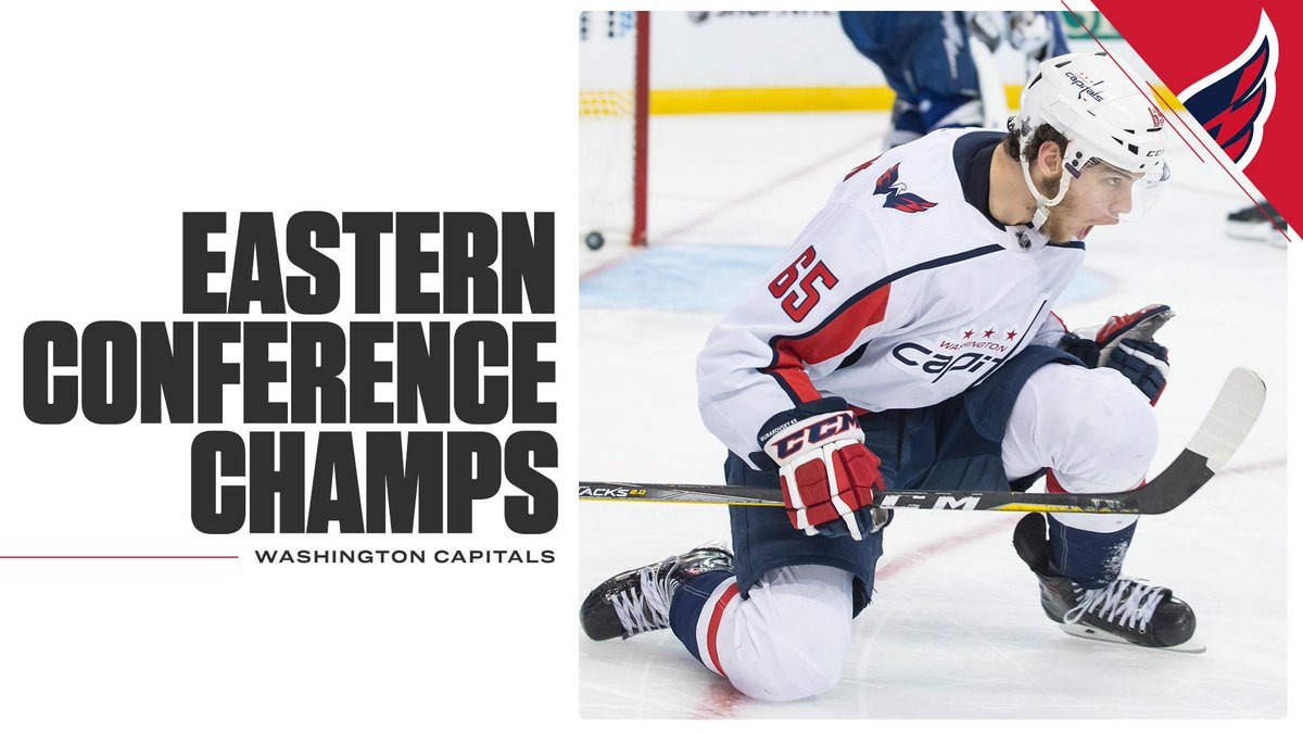 IT'S ALL CAPS!   Alexander Ovechkin and the Capitals are on to the Stanley Cup Final.