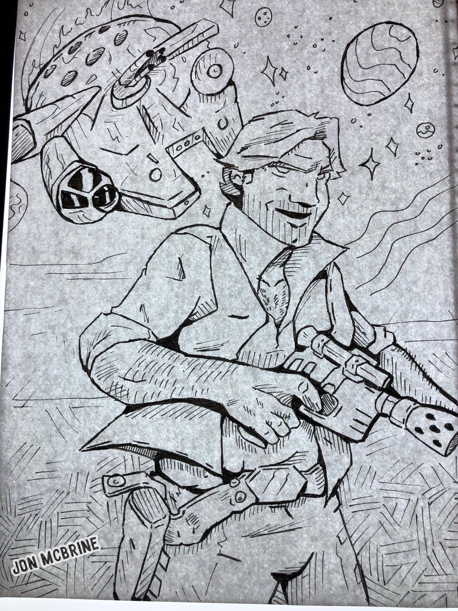Drawing challenge for tonight: Han Solo  http:// jonmcbrine.com  &nbsp;   #solo #HanSolo  #SoloAStarWarsStory  #StarWars  #starwarssolo #drawing #draw #draweveryday #SoloMovie  #art #fanart #WednesdayMotivation #MillenniumFalcon  #starwarsfan #HarrisonFord #AldenEhrenreich #drawingday<br>http://pic.twitter.com/c6J4YSnLHN