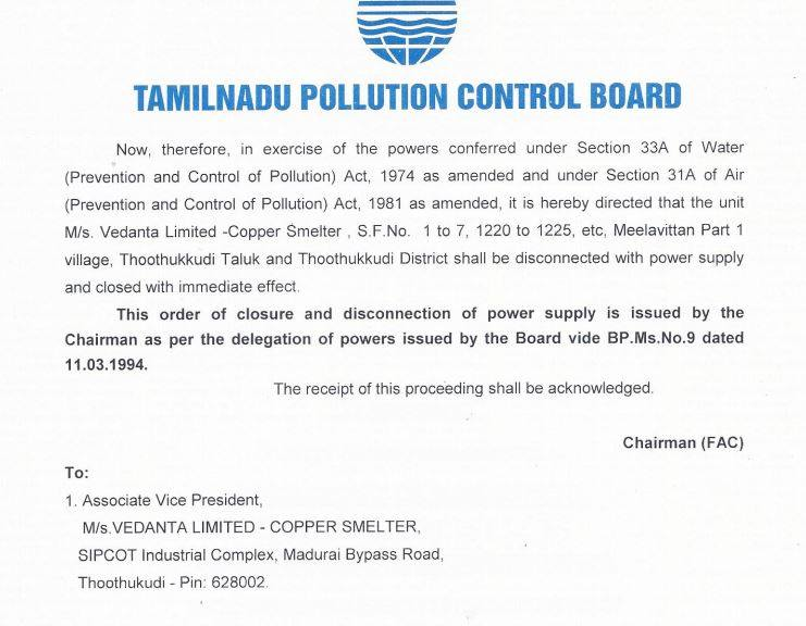 TN Polution Control Board disonnects power supply to Sterlite on 23 May 2018.  This could have been done a bit earlier na ? 12 lives could have been saved.  For @OfficeOfOPS puberty ceremony of his party MLA is more important.<br>http://pic.twitter.com/iLa2ezHwb5