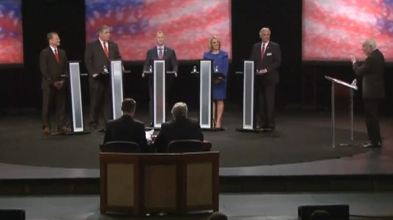 Republican candidates participate in governor's debate at Clemson University https://t.co/cIggv5igbK