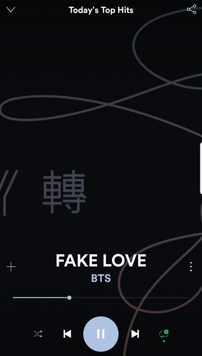 This admin is streaming Fake Love on Spotify Today&#39;s Top Hits playlist. What about you? Which platform are you streaming Fake Love on ARMYs?  Quick show us screenshot below   @BTS_twt<br>http://pic.twitter.com/c7pZgVe08O