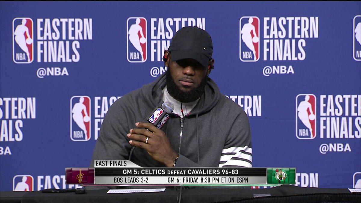 Bron showing off his memory skills again after the Game 5 loss (via @NBATV)