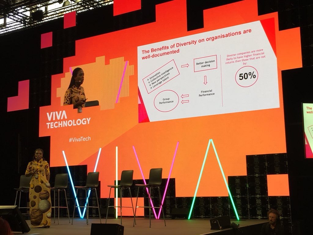 'At The @BoardroomAfrica, we have created the first database of 300+ board-ready women across Africa' @marciakayie   #VivaTech #WomenInLeadership <br>http://pic.twitter.com/ZSTnNFZEDO