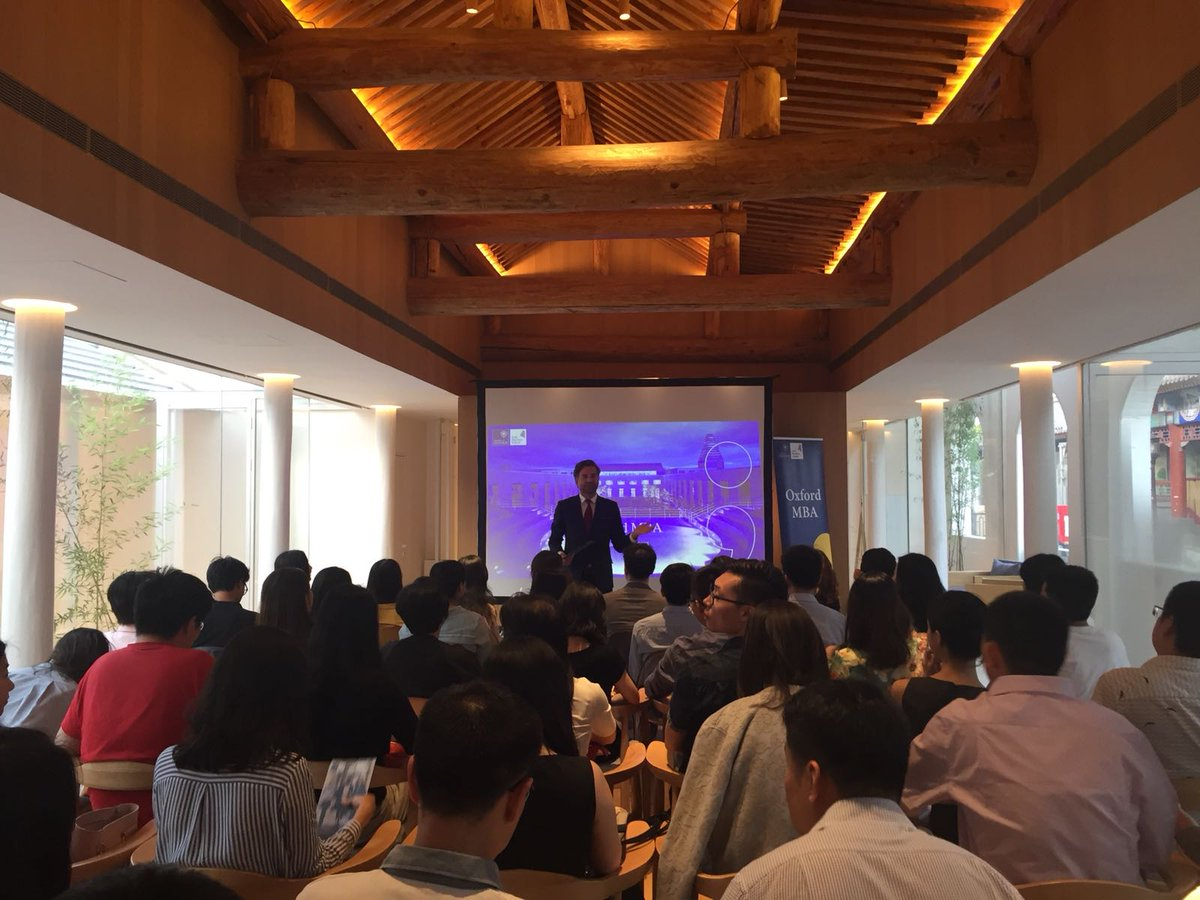Tiago Martinho hosts the first of our 2019/20 @OxfordMBA Inforomation Events in Beijing #OxfordMBA