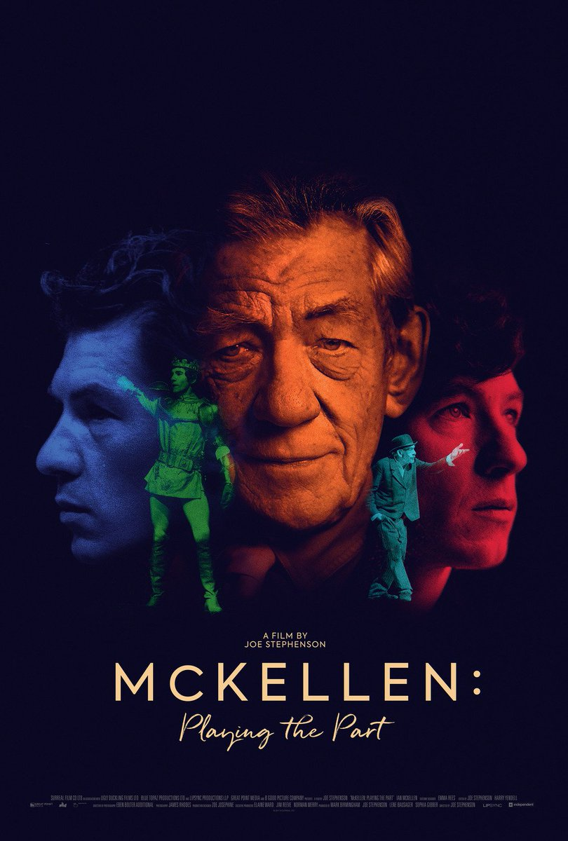 The first poster for Ian McKellen documentary McKellen: Playing the Part