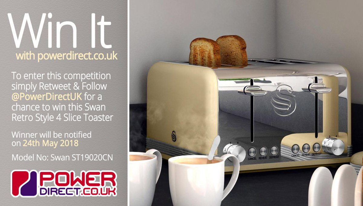 We Will Be Announcing the #Winner of our #Free to Enter #Competition #Giveaway at 2pm TODAY. You Could #Win a Swan Retro Style 4 Slice Toaster.  Be Lucky!<br>http://pic.twitter.com/SHMTLSbMYY