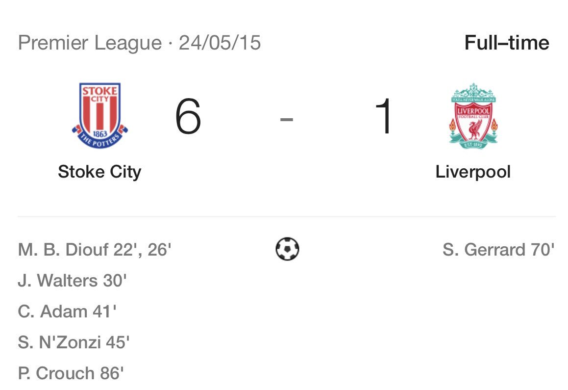On the 24th May 2015, #LFC lost 6-1 to Stoke City. Just three years later, Jurgen Klopp is preparing us for a Champions League Final.  <br>http://pic.twitter.com/7tQkErKfrT