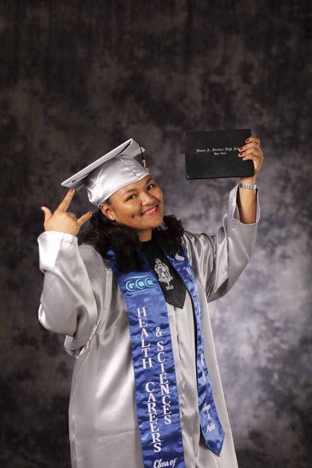 Joyce Martin, an ETS Senior from Simon Sanchez High School recently go accepted into Chaminade University in Hawaii. In addition, she recently received the Regent Scholarship worth $75,000 for her to help fund her college expenses. We are so proud of you Joyce! <br>http://pic.twitter.com/1kUyqchJEq