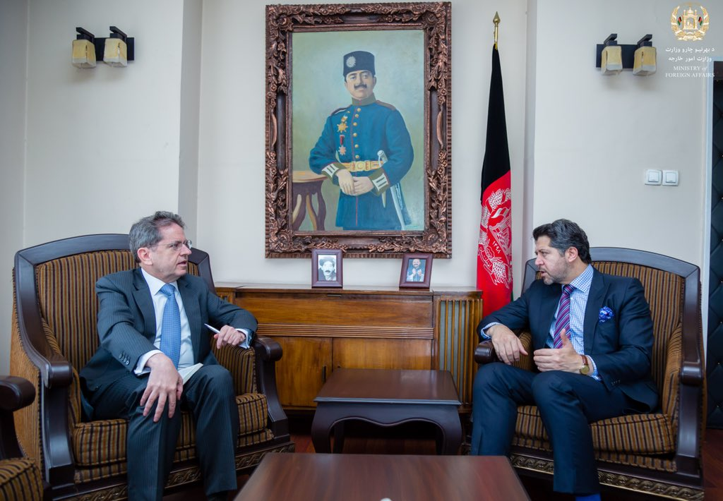 Always good to meet with Ambassador Pierre Mayaudon, European Union Head of Delegation to Afghanistan, to discuss the upcoming elections, regional engagements and EU's capacity building efforts. @EUinAfghanistan @EUAmbAFG