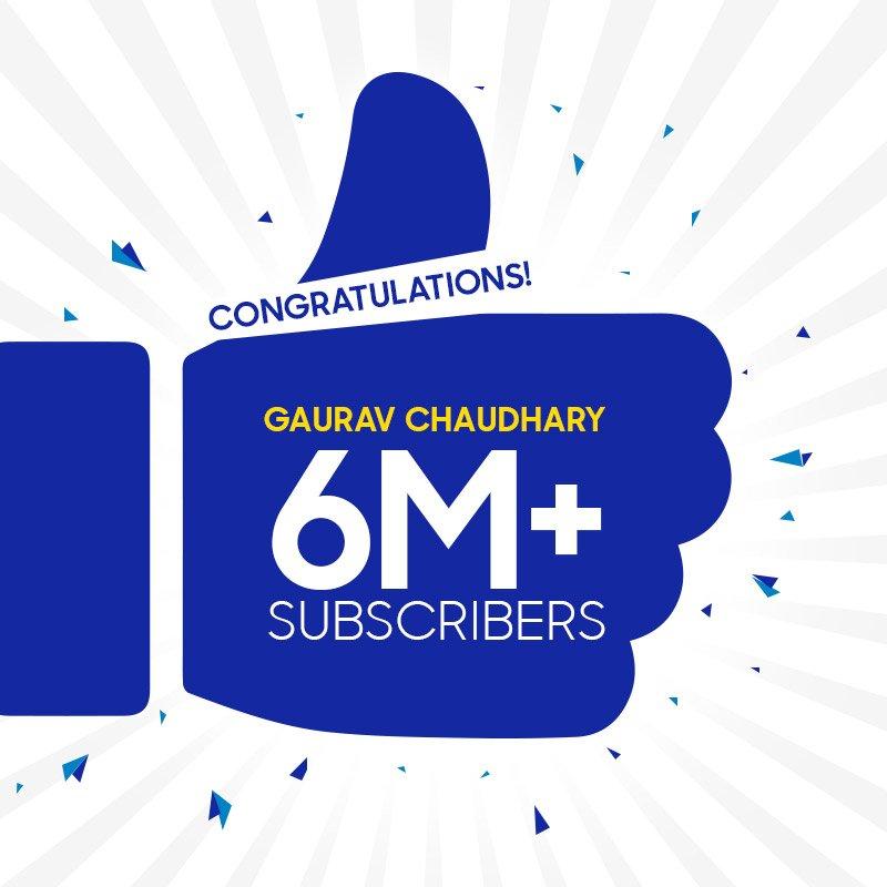 Many Congratulations @TechnicalGuruji for crossing the 6 million subscribers mark on YouTube.<br>http://pic.twitter.com/6slnOx2nQD