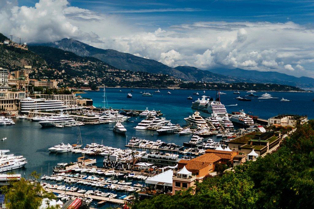 Good morning from Monte Carlo bay #MonacoGP