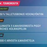 Image for the Tweet beginning: Tänään tarjolla talletusbonus vedonlyöntiin!Synttärikalenteriin ––>
