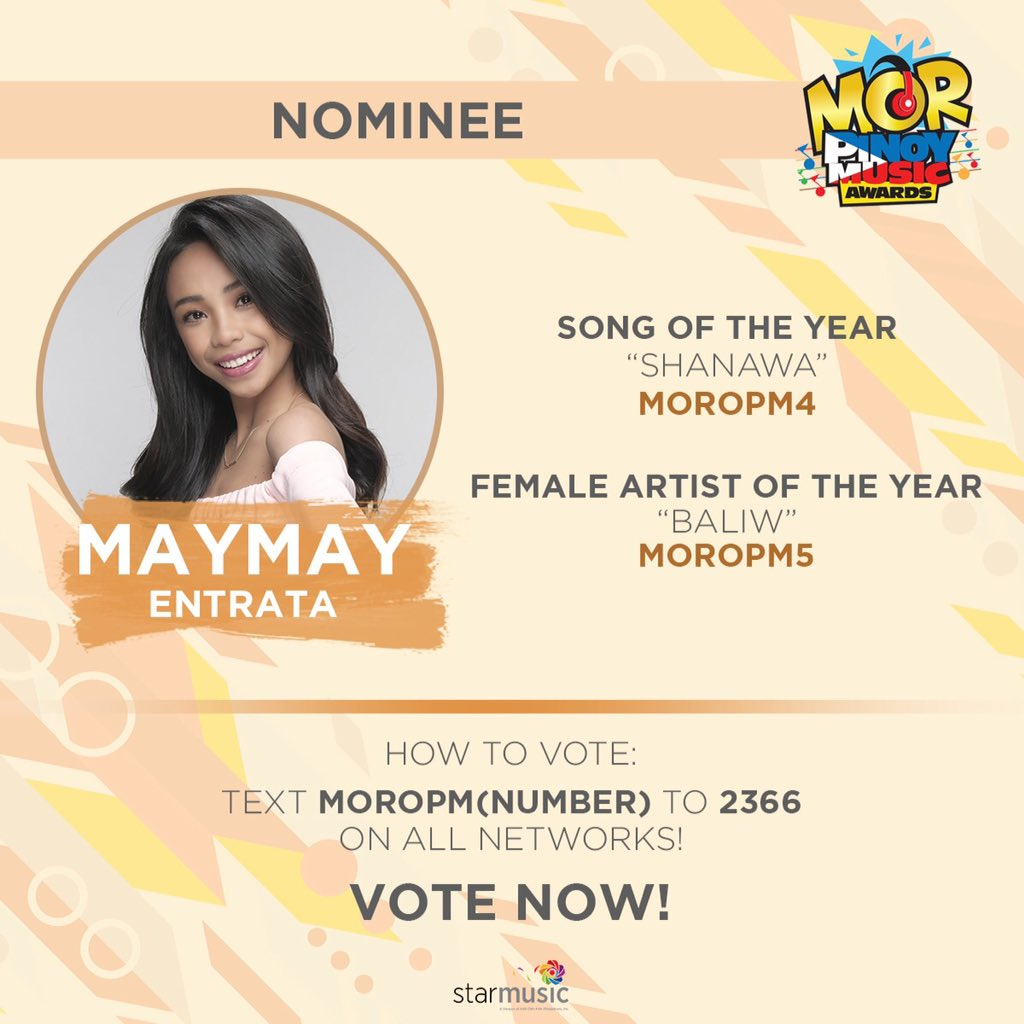 MAYWARD CloserThanEver and we are closer na rin sa deadline ng votings for MOR Pinoy Music Awards!   Nakaboto ka na ba? Kung hindi pa, vote na! Just see the artcard below for the instructions. Tulungan tayo. Nothing is impossible with unity!   @maymayentrata07 @Barber_Edward_<br>http://pic.twitter.com/jcP5ytdj4z
