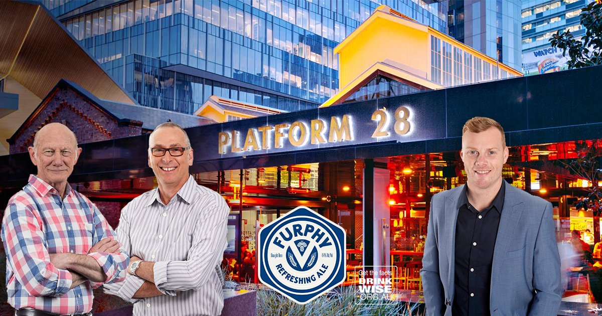 Catch @TheRunHome  broadcasting live tomorrow from Platform 28 between 3-5pm before Collingwood v Western Bulldogs next door at Etihad Stadium. Special guest  @Adamcooney17will also be on-site.  Check out the $7 Furphy Refreshing Ale schooners between 4-5. Drink responsibly.
