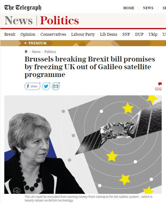 &#39;EU wrong to reserve premium Galileo services to fee-paying member states thus excluding post-#Brexit UK,&#39; says the @Telegraph which won&#39;t give you access to that story unless you&#39;re a fee-paying subscriber to its premium services.  #SeeWhatIdidThere? #Tories #BBCdp #lbc #r4today<br>http://pic.twitter.com/TS1cV0bQJA