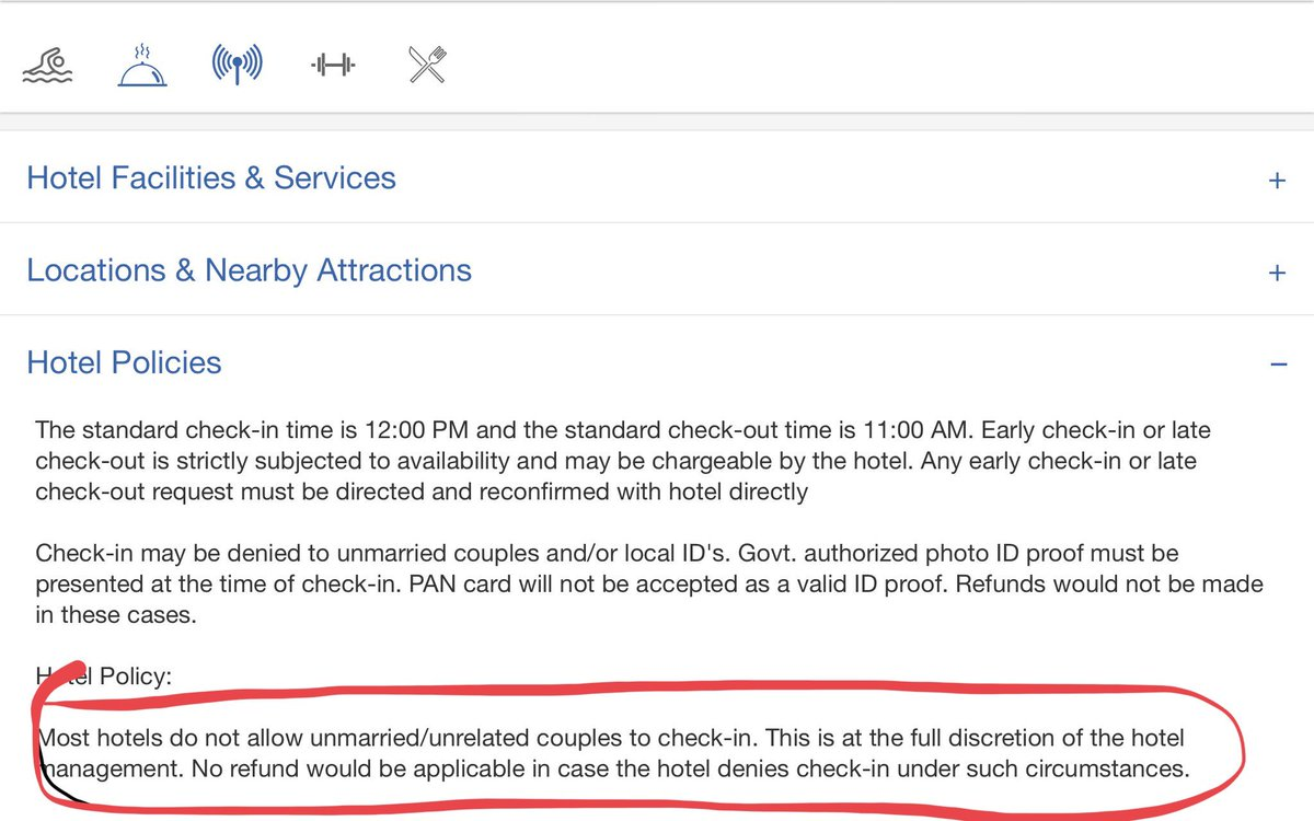 Goibibo On Twitter Please Note That The Hotel Policy Is At S Discretion You May Check Same Directly With Thanks Vs