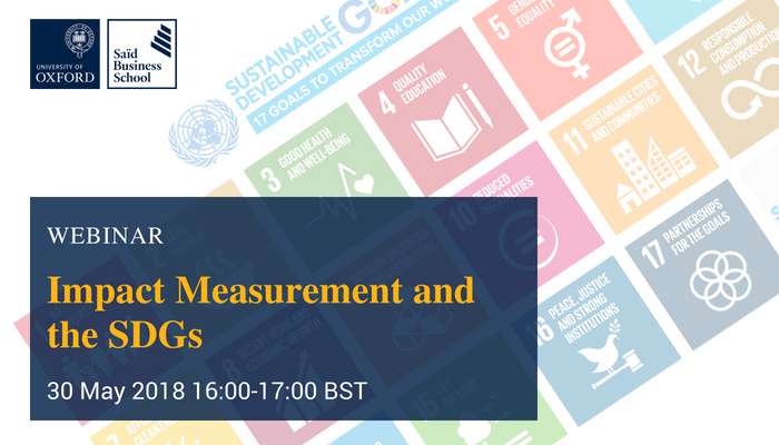 How are sustainable development goals being used for impact measurement in practice? Join our next webinar for this interesting discussion on Wednesday 30th May 4pm BST. Register now. https://t.co/LKGHgM4N7M