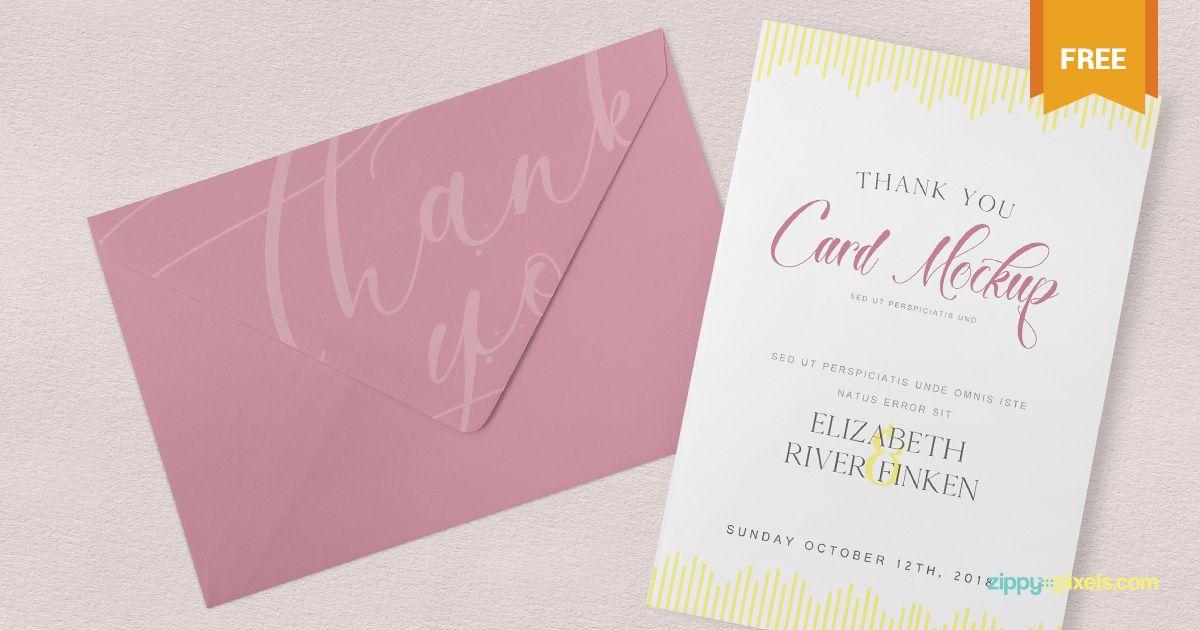 ZippyPixels On Twitter Releases Free Thank You Card Mockup Tco EfNdJ4mpe3 Freebie Psd Photoshop Stationery