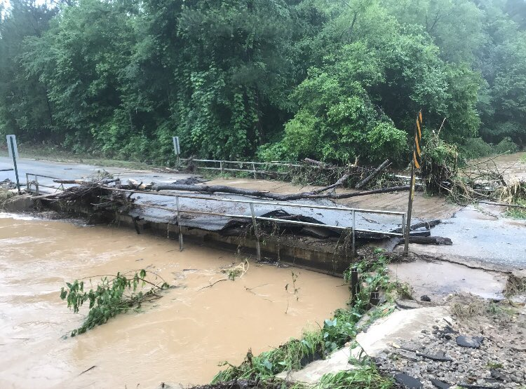 Flash Floods this week had a devastating impact on Lee County Roads &amp; Bridges. Most counties have few resources or financial ability to make repairs when disasters strike. It's time to give Alabama counties the proper funding needed to help our citizens. #alpolitics #67counties<br>http://pic.twitter.com/jcC4dd9BZp