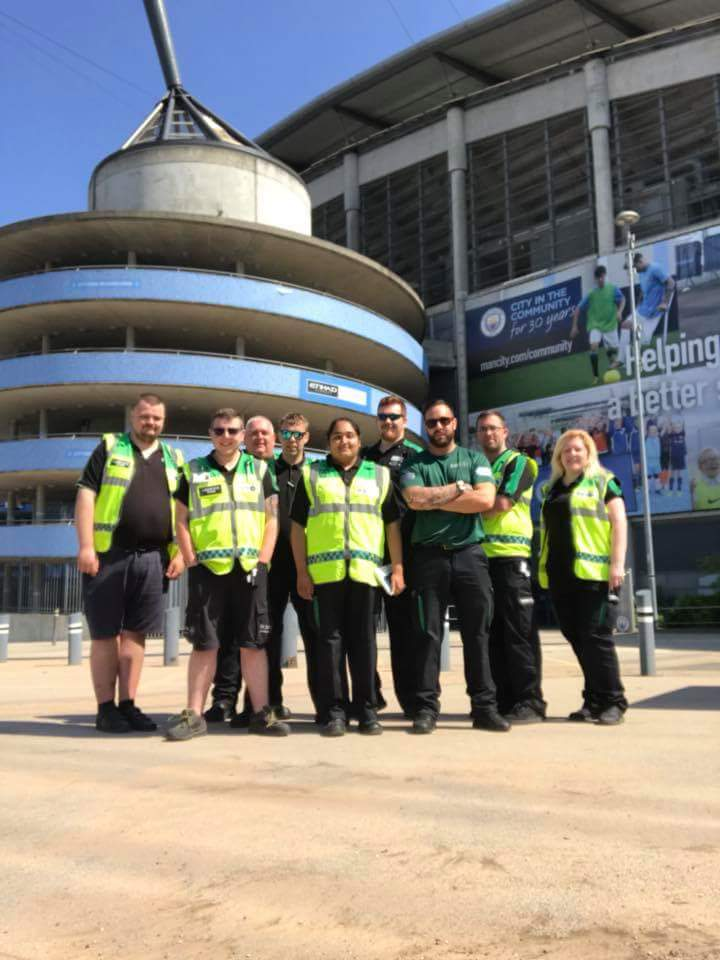 So yesterday the team were at the @EtihadStadium setting up the medical cover for the concerts starting with @edsheeran today! Members of the team will be onsite providing logistical support throughout the concerts, And other members will also do some first aid! @SJAVolunteering<br>http://pic.twitter.com/y68rVirCtr