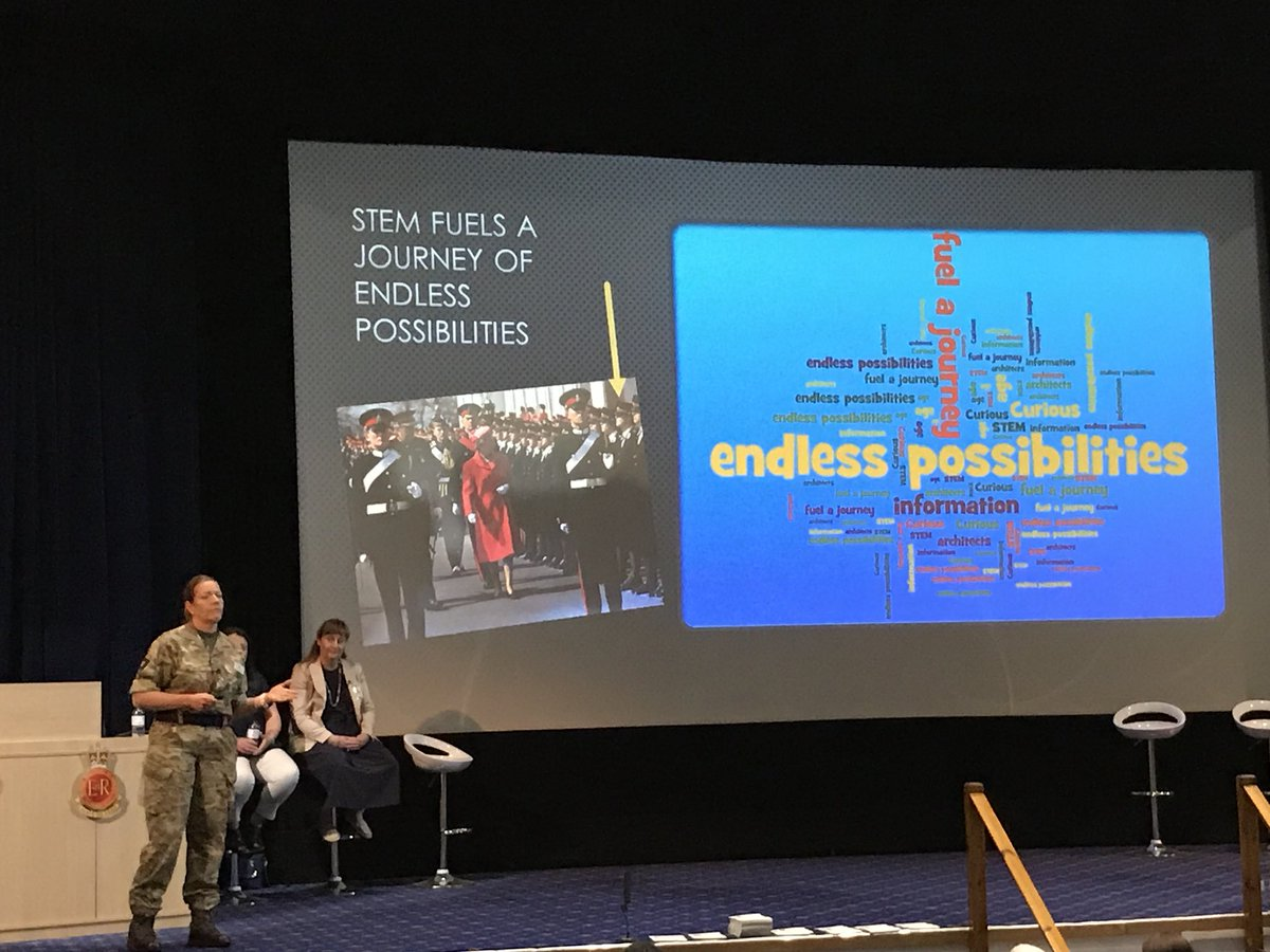 Inspirational #STEM speaker #BritishArmy Brigadier Sara Sharkey explains just how diverse a career in #HMForces for women can be and how #LeadingChange is the future of the next generation with #endlesspossibilities 🙋🏽♀️ #YearOfEngineering #XFTogether #RMAS