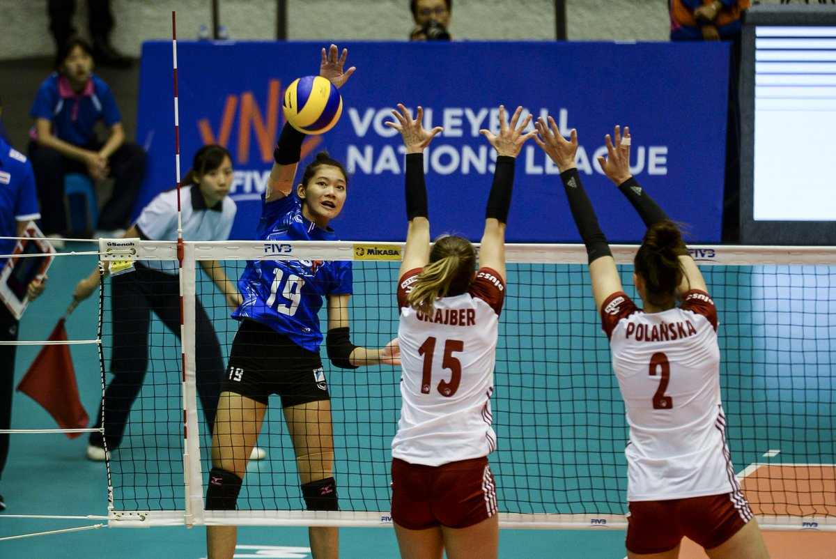 FIVB VOLLEYBALL NATIONS LEAGUE 2018 Latest Score: Poland 1 - 2 Thailand (22-25, 25-21, 23-25) LIVE:  https://www. youtube.com/watch?v=NTB37l oKNuA &nbsp; …  #VNL #FIVB<br>http://pic.twitter.com/spCPA7766s