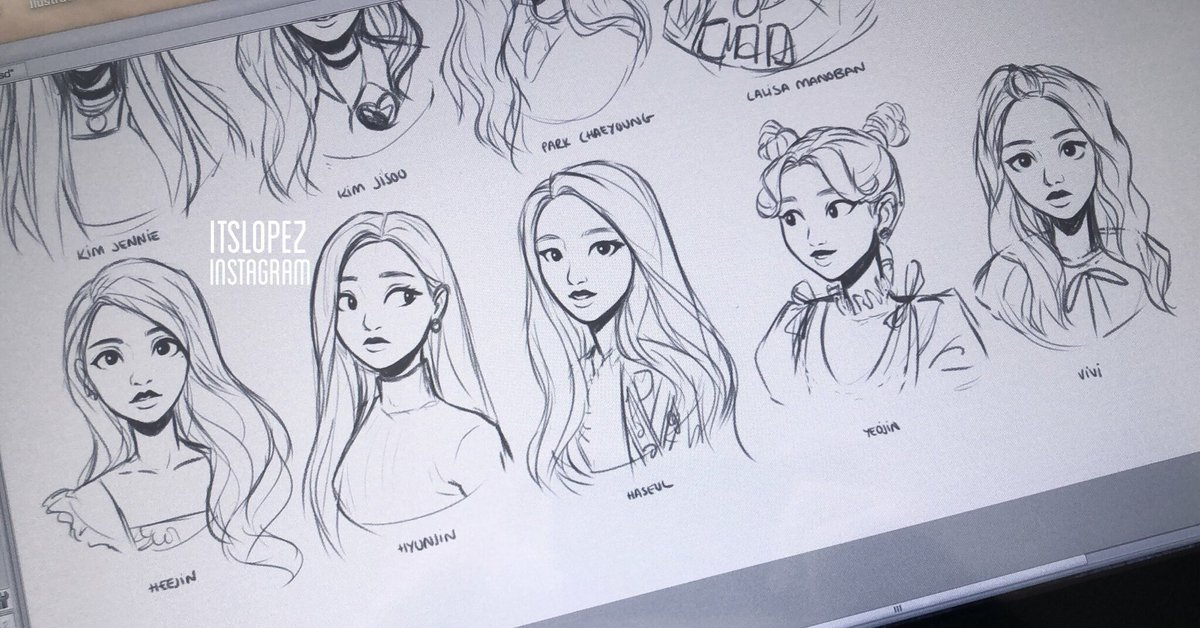 first time sketching loona 1/3 and yeojin <br>http://pic.twitter.com/vdDoLOtCfU