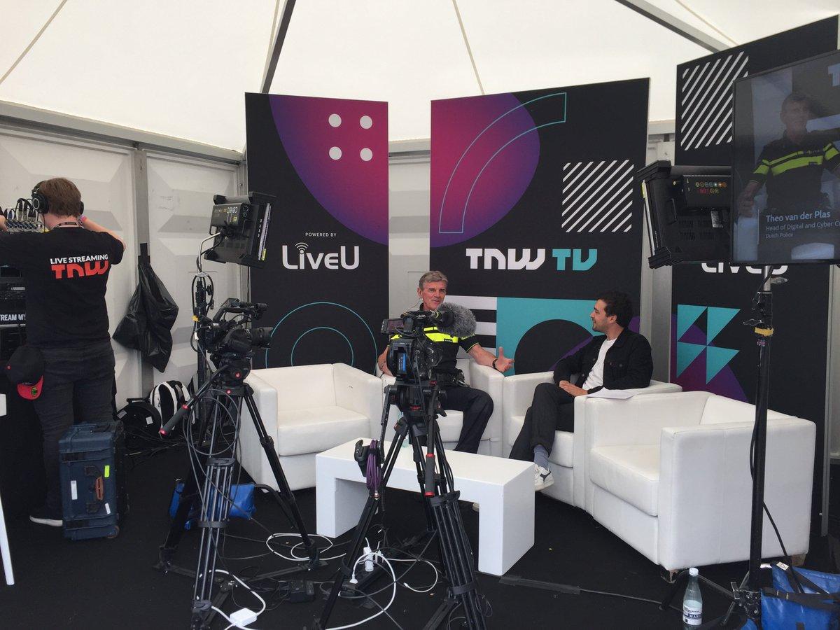 #TNW TV livestreaming met @tgvdplas head of #digital and #cybercrime - #interpol #europol #police #HighTech #AI @Thenextpolice @TNWconference<br>http://pic.twitter.com/ctdjbv0rBf