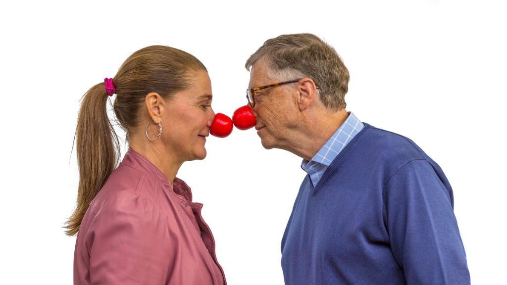 Bill Gates's photo on #RedNoseDay