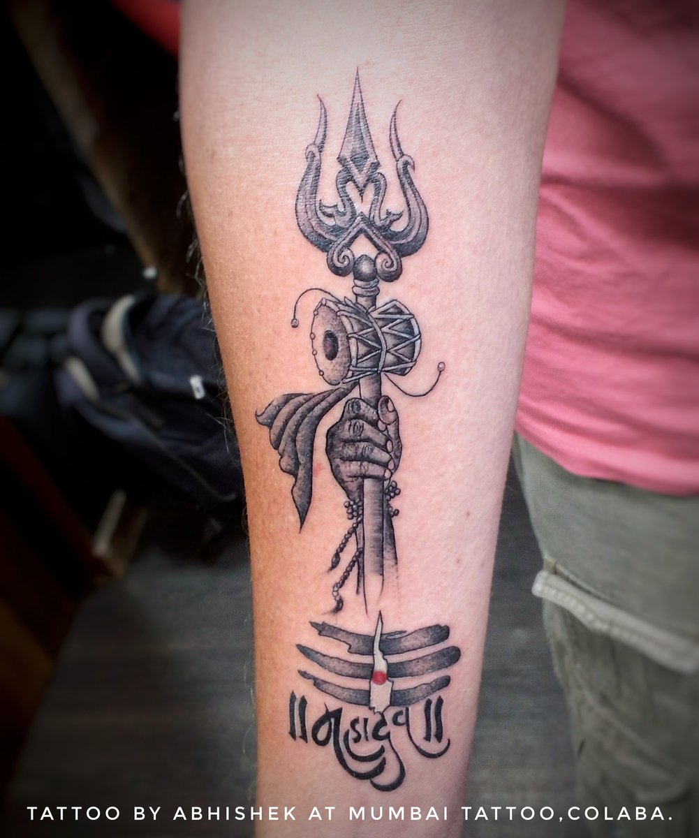 "Tattoo Designs Trishul: Abhishek Jaiswar On Twitter: ""Trishul Tattoo Product Used"