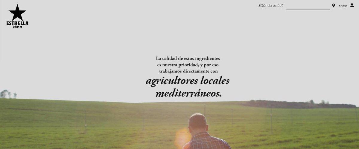 @EstrellaDammEs, otra empresa de la categoría #alimentación y bebidas que pone foco en el agricultor local en su #comunicación. ¿Se quedará sólo en #storytelling o lo llevará a la práctica con un precio justo al productor, #storydoing?. Estaremos atentos...