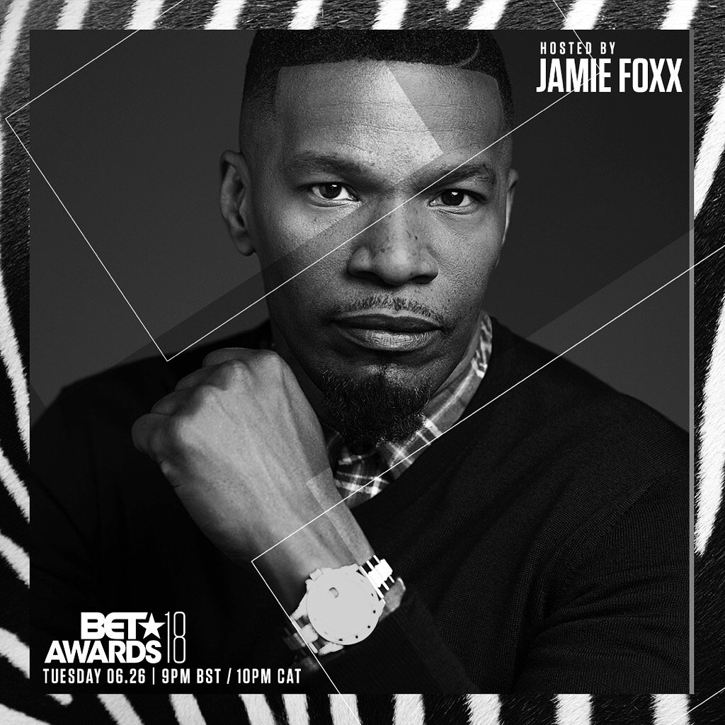 Look who's hosting 👀👀👀 @iamjamiefoxx is shutting down the stage for the 2018 #BETawards