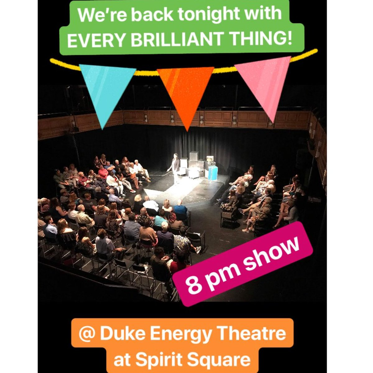 Retweet if we will see you there this weekend!!! #EveryBrilliantThing #charlottesgotalot #cltarts #charlotteiscreative #supportsmallbusiness <br>http://pic.twitter.com/M6MWeOjkMb