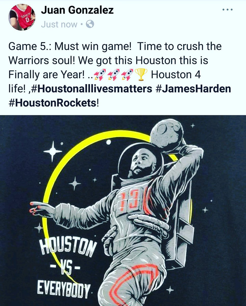 Go HOUSTON Rockets  time to beat the warriors in Houston #Houstonalllivesmatters #follo4follo  #FolloForFolloBack  #follo4folloback  #Houstonrockets  #Runasone #JGonzalez<br>http://pic.twitter.com/hEeshFDTnW
