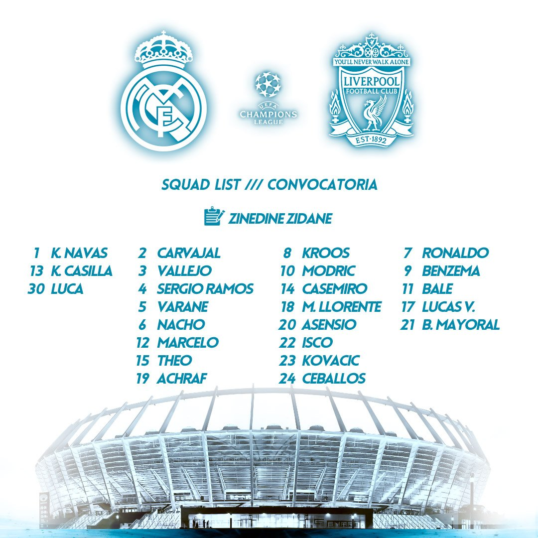 📋 Zidane has called up the whole squad for our trip to Kiev for the final! #APorLa13