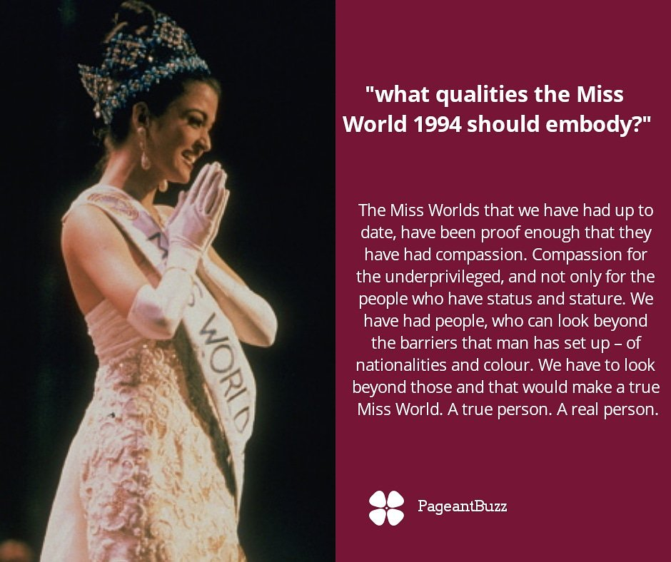 Pageantbuzz On Twitter Miss World 1994 Aishwarya Rai S Final Question And Winning Answer At Miss World 1994 Missworldltd Missindia Missindia1994 Missworld1994 Aishwaryaraibachchan Aishwaryarai Missuniverse1994 Missworld2018