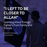 1. My new report with Lorne Dawson for @ISDglobal, based on years of research with foreign fighters and those close to them is now out. You can read it here. A few key findings and comments: https://t.co/LILZisCEm0