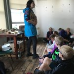 Fossil talk before we go to the beach - guess what Ben's holding - clue - what was Alfie holding yesterday?