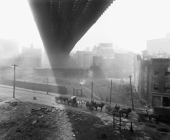 May 6, 1918 - Underneath the Brooklyn Bridge #100yearsago